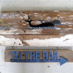 Nantucket Sleigh Ride Antique Sign - Made by http://www.ecustomfinishes.com