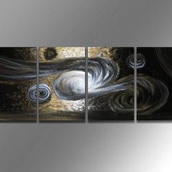 Miles Shay - Metal Art Wall Art Decor Abstract Contemporary Modern Sculpture - Winds - This Abstract Metal Wall Art & Sculpture captures the interplay of the highlights and shadows and creates a new three dimensional sense of movement as your view it from different angles.