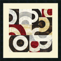 Amanti Art - Sandro Nava 'Addendum I' Framed Art Print 25 x 25-inch - Bring a little simple chic into your decor! This contemporary abstract, Addendum I, offers a staccato poetry of circular shape and tone.