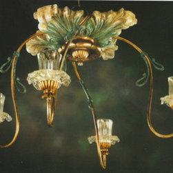 Artistica - Hand Made in Italy - Alba Lamp: Ceiling Lamp - G9 Bulb/Scavo Murano - Alba Lamp Collection.