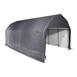 None - ShelterLogic 90153 Barn Canopy Carport - This ShelterLogic Homestead Barn Garage has the length and height to accommodate almost any vehicle or equipment. The rip-stop fabric,zippered door panels and high grade Rhino Shield processed steel  are made to withstand most weather.