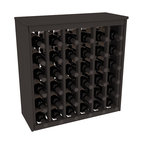 Wine Racks America - 36 Bottle Deluxe in Ponderosa Pine, Black Stain - Great start or addition to wine rack furniture, this wooden wine rack is designed to look like a freestanding wine cabinet. Solid top and side enclosures promote the cool and dark storage area necessary for aging your wine properly. Your satisfaction and our racks are guaranteed.