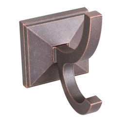 Jeffrey Alexander - Tahoe Rustic Robe Hook - Patent pending locksolid attachment system. Rough tumbled finish. Base: 2.63 in.. Height from wall: 4.5 in.. Overall length: 4.5 in.. Robe Hook Details
