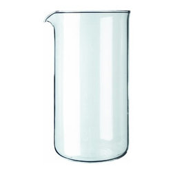 BonJour - French Press Replacement Carafe - BonJour's French Press Replacement Carafe's universal design fits any standard 3-cup or 12 ounce french press coffee makers. Crafted to withstand extreme temperatures with shatter-resistant borosilicate glass, this beaker will serve your coffee needs effortlessly.