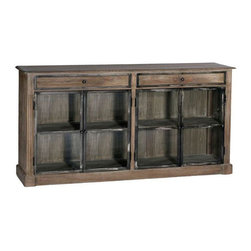 Gabby - MARCO CABINET - Gabby's Marco Cabinet, inspired by antique leaded glas windows, features iron accents and a narrow depth perfect for today's modern conviences.