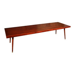 POST - Danish Coffee Table, Ebony - This Danish inspired coffee table is built out of solid hardwoods, hand sanded and finished.