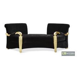 Coco Noir Velvet Baroque Gold Sofa -