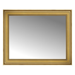 """Posters 2 Prints, LLC - 42"""" x 34"""" Arqadia Gold Traditional Custom Framed Mirror - 42"""" x 34"""" Custom Framed Mirror made by Posters 2 Prints. Standard glass with unrivaled selection of crafted mirror frames.  Protected with category II safety backing to keep glass fragments together should the mirror be accidentally broken.  Safe arrival guaranteed.  Made in the United States of America"""