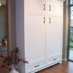 Murphy Bed Hardware Inc - Georgian White Queen Murphy Bed
