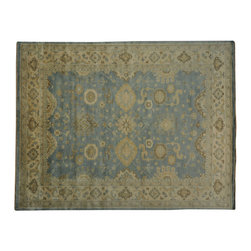 1800-Get-A-Rug - Washed Out Sky Blue Oushak 100% Wool Hand Knotted Oriental Rug Sh19037 - Washed Out Sky Blue Oushak 100% Wool Hand Knotted Oriental Rug Sh19037