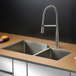 Ruvati - Ruvati RVC2354 Stainless Steel Kitchen Sink and Stainless Steel Faucet Set - Ruvati sink and faucet combos are designed with you in mind. We have packaged one of our premium 16 gauge stainless steel sinks with one of our luxury faucets to give you the perfect combination of form and function.