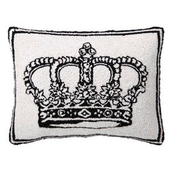 Home Decorators Collection - Home Decorators Collection Pillows French Market 18 in. W Black/White Queen - Shop for Decor at The Home Depot. Whether as a decorative accent in your living room bedroom or even on an arm chair in your home office the Crown Hand-Hooked Pillow offers the opulent look of royalty as well as a quality construction that will last for years to come. With its bold black and white appearance and interesting texture offered by its hand-hooked wool design this decorative pillow will accentuate most any style of home decor from traditional to modern. Order yours today and add a relaxing touch to your space. Color: Whites.