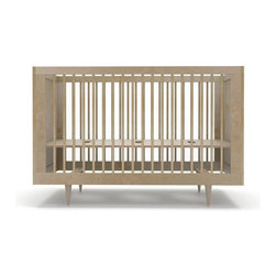 Spot on Square - Ulm Crib - The Spot on Square Ulm Crib is made from beautiful and sustainably harvested solid birch and birch plywood. This stunning mid-century inspired crib, features minimal characteristics with straight forward lines resting atop solid birch turned and tapered legs. The mattress platform offers 3 adjustable positions to grow with your baby. Solid birch toddler daybed conversion panel available.