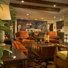 Tropical Living Room by Keesee and Associates, Inc.