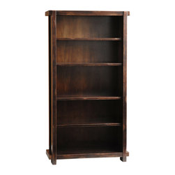 TerraSur - Giza Bookcase - Solid wood bookcase with 4 shelves.  Made in Argentina.