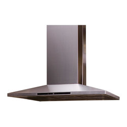 Yosemite Home Decor - MIPH36S-4H Contemporary Series 4-Speed Dual Blower Island Range Hood - The Contemporary Series from Yosemite Home Decor offers an assortment of architecturally inspired, ultra-modern hoods that border on the breaking edge of technology while maintaining affordability and without the compromise of quality. With the combination of carefully crafted stainless steel and a diverse collection of curved, tempered glass, the contemporary series creates an artistic feel to today's kitchen. Offering 400cfm with single blower models and 600cfm with dual blower models, chances are you'll be able to find a hood to fit your needs.