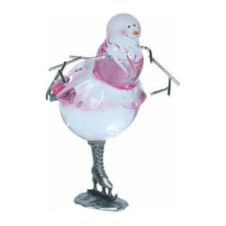 WL - 4.5 Inch Holiday Christmas Bowtie Ballerina Snowman Winter Figurines - This gorgeous 4.5 Inch Holiday Christmas Bowtie Ballerina Snowman Winter Figurines  has the finest details and highest quality you will find anywhere! 4.5 Inch Holiday Christmas Bowtie Ballerina Snowman Winter Figurines  is truly remarkable.