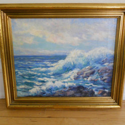 Vintage Framed Oil Painting, Seascape by My Best Goods - If you're already adding oceanic elements to a space, why not add the actual ocean? Something like this gorgeous vintage oil painting of the ocean is on my list whenever I go to flea markets.