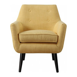Bobby Berk Home - Marcus Chair, Muster - Our Marcus chair has a clean Mid-Century aesthetic while the small scale button tufting adds a pop of personality. Perched on solid wood legs, this chair is a true classic and is a fashionable addition to living rooms, bedrooms and entryways.