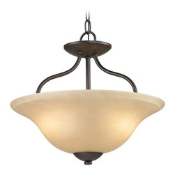 Cornerstone Lighting Conway Oil Rubbed Bronze Pendant Light with Bowl / Dome Sha -
