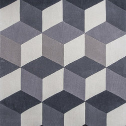 """KAS - KAS Zolo 3906 Kaleidoscope (Grey) 5' x 7'6"""" Rug - This Hand Tufted rug would make a great addition to any room in the house. The plush feel and durability of this rug will make it a must for your home. Free Shipping - Quick Delivery - Satisfaction Guaranteed"""