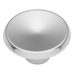 """Hickory Hardware - Sunnyside Polished Chrome Cabinet Knob, 1.5"""" - Often characterized with clean, sleek lines. Marked with solid colors, predominantly muted neutrals or bold bunches of color. An emphasis on basic shapes and forms."""