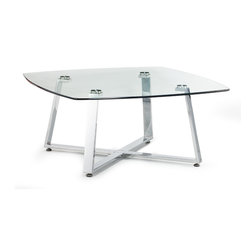 ZUO MODERN - Lemon Drop Small Coffee Table Clear Glass - Lemon Drop Small Coffee Table Clear Glass
