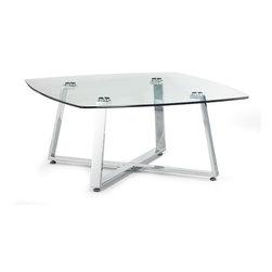 ZUO MODERN - Lemon Drop Small Coffee Table Clear Glass - Lemon Drop Small Coffee Table Clear Glass