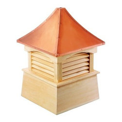 Good Directions Coventry Wood Cupola - The Good Directions Coventry Wood Cupola lets you add the illusion of extra height to your house or shed. Featuring an elegantly sloped roof and a louvered vent panels, this unit takes inspiration from timeless European elements. The base is made with solid wood planks and boards while the roof is protected with weather-resistant 24-gauge copper. The base is available either primed or unprimed for painting. The roof can easily be fitted for a weathervane or finial. 18, 22, 26, 30, 36, 42, 48, 54, 60, 72, and 84-inch square units are available to choose from. Instructions for mounting the unit are included. Mounting hardware for a weathervane attachment is also included.About Good DirectionsGood Directions got its start by creating weathervanes and cupolas, but it has expanded its line to include a wide range of decorative yet functional products for the home and garden, including popular Fire Domes, rain chains, and garden weathervanes. The company continues to attract innovative artists and designers eager to lend their vision to the creation of exceptional products to enhance the home, both indoors and out. No matter which way the wind blows, you can count on Good Directions to show you the way to a beautiful home.