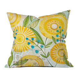Cori Dantini Sun Burst Flowers Outdoor Throw Pillow - Do you hear that noise? it's your outdoor area begging for a facelift and what better way to turn up the chic than with our outdoor throw pillow collection? Made from water and mildew proof woven polyester, our indoor/outdoor throw pillow is the perfect way to add some vibrance and character to your boring outdoor furniture while giving the rain a run for its money.