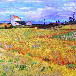 "Vincent Van Gogh Wheat Field with Sheaves - 16"" x 20"" Premium Archival Print - 16"" x 20"" Vincent Van Gogh Wheat Field with Sheaves premium archival print reproduced to meet museum quality standards. Our museum quality archival prints are produced using high-precision print technology for a more accurate reproduction printed on high quality, heavyweight matte presentation paper with fade-resistant, archival inks. Our progressive business model allows us to offer works of art to you at the best wholesale pricing, significantly less than art gallery prices, affordable to all. This line of artwork is produced with extra white border space (if you choose to have it framed, for your framer to work with to frame properly or utilize a larger mat and/or frame).  We present a comprehensive collection of exceptional art reproductions byVincent Van Gogh."