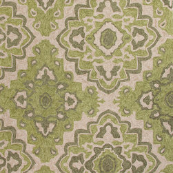Jaipur Rugs - Moroccan Pattern Polyester Green/Ivory Indoor-Outdoor Area Rug ( 2x3 ) - These Catalina rugs will add a pop to any outdoor space with its rich inspiration from Moroccan trellis and tile patterns.
