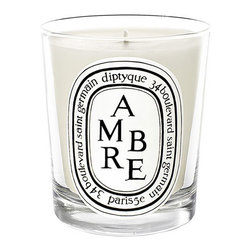 diptyque 'Ambre' Scented Candle - Ambre scented candle: A warm and elegant procession of the woods vetiver and patchouli, enhanced with radiant anise seed, insolent spices, mysterious incense, cistus and tonka bean. Brand: DIPTYQUE. Style Name: diptyque 'Ambre' Scented Candle. Style Number: 396856.