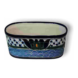 Oval Planter, Small - Perfect decoration for your window ledge or deck in beautiful designs. Picture in Dolores pattern.