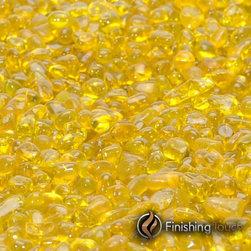"""Finishing Touch Products - 8 Pound Container 1/4"""" Lemondrop Glass Pebbles - Color: Lemondrop"""