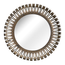 ZUO PURE - Drum Mirror Rusted metal frame - Drum Mirror Rusted metal frame