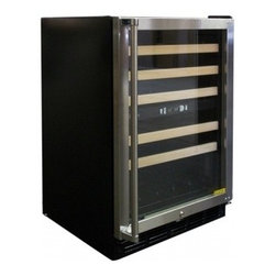 Vinotemp - VT-45SB10 Dual Zone 45 Bottle Wine Cooler With Innovative and Stylish Design & I - This 45 bottle dual zone touch screen wine cooler is convenient easy to use and will keep your wines properly stored so they39ll be ready for any occasion