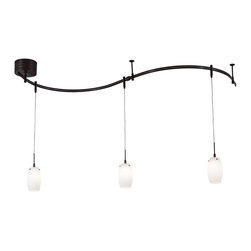 George Kovacs - P8003-1-467 3-Lite W/New Transformer Rail Light Sable Bronze Patina W/ Etched Op - Product