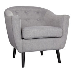 nora accent chair in grey - !nspire