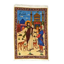 eSaleRugs - 3' 5 x 5' 3 Pictorial Bakhtiar Persian Rug - SKU: 22115430 - Hand Knotted Pictorial Bakhtiar rug. Made of Kork Wool. Brand New.