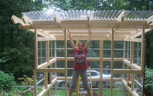Plans for building a greenhouse out of old windows wood for How to build a greenhouse using old windows