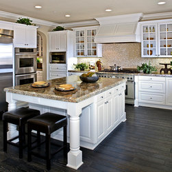 White Thermofoil Kitchen Cabinets -