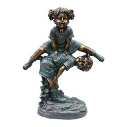 Alpine - Girl Jumping Over Boy Statue - Features: