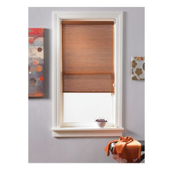 Woven Wood Shades in Island Tan - Bamboo roller shades provides a classic roller shade function along with a natural material appearance. These eco-friendly shades allow soft light into your home while providing daytime privacy (not private at night).