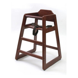 Lipper - Wooden High Chair - Cherry - Color: Cherry. Solid Wood. Safety Straps. Material: Wood/MDF. 20.25 in. L x 27.5 in. W x 2 in. H (1.55 lbs)