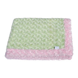 Belle & June - Baby Blanket, Light Pink and Sage - Ultra plush, soft and snugly, you'll wish there was an adult-sized version of this two-toned baby blanket. Cuddly like a stuffed animal, this blankie works well on strollers, for cribs, or to wrap around your bundle of joy. The light pink/ sage color combo goes with everything and makes a great shower gift too.