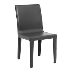 Sam Dining Chair - Grey - Steel frame and commercial grade upholstery combine for a strong and versatile chair with timeless appeal. Available in 4 colors - Black, Grey, Brown & White.