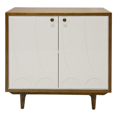 Worlds Away - Worlds Away - Irving 2 Door Cabinet - Irving, Wood - Worlds Away - Irving 2 Door Cabinet In Wood Lacquer - IRVING RWH
