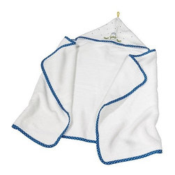TORVA Baby towel with hood - Baby towel with hood, white