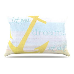 """Kess InHouse - Alison Coxon """"Let Your Dreams Set Sail"""" Pillow Case, King (36"""" x 20"""") - This pillowcase, is just as bunny soft as the Kess InHouse duvet. It's made of microfiber velvety fleece. This machine washable fleece pillow case is the perfect accent to any duvet. Be your Bed's Curator."""